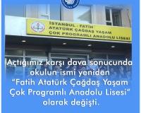 Atatürk Çağdaş Yaşam Çok Programlı Anadolu Lisesi