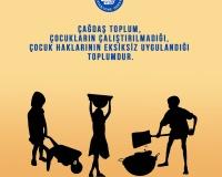 12 Haziran Dünya Çocuk İşçiliğiyle Mücadele Günü.